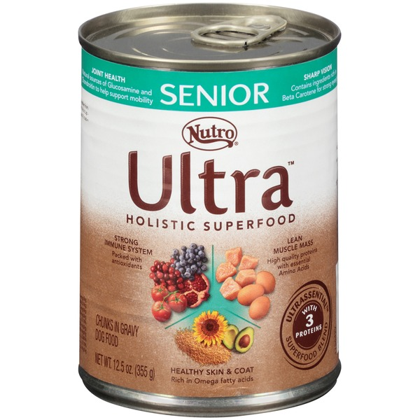 Nutro Ultra Senior Holistic Superfood Chunks in Gravy Dog Food