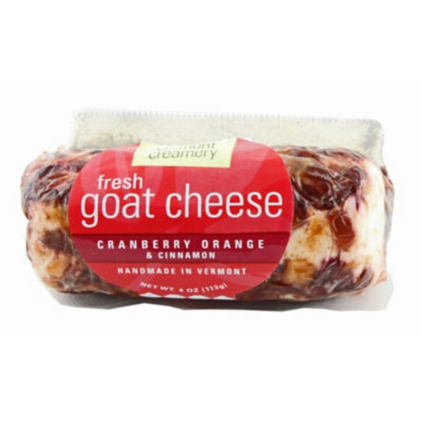 Vermont Creamery Cranberry, Orange, And Cinnamon Goat Cheese Log