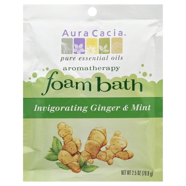 Aura Cacia Invigorating Ginger Mint Aromatherapy Foam Bath