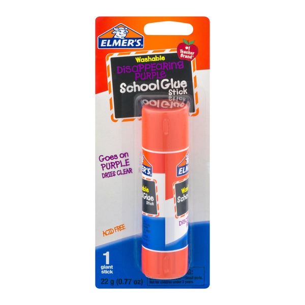 Elmer's Washable Disappearing Purple Shool Glue Stick Giant