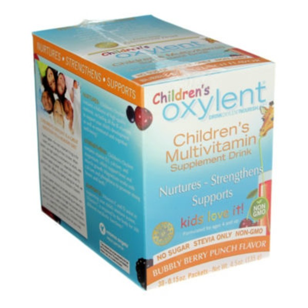 Oxylent Children's Daily Multivitamin Supplement Drink Bubbly Berry Punch