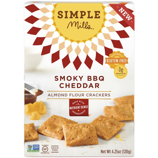 Simple Mills Smoky Barbeque Cheddar Almond Flour Cracker