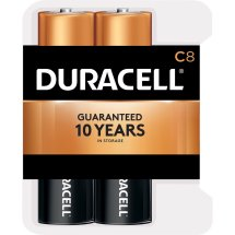 Duracell Coppertop Alkaline C Batteries, 8 Count