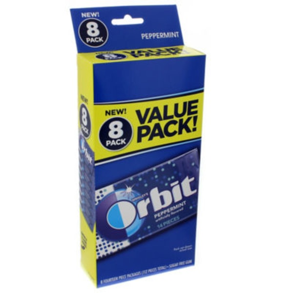 Orbit Sugar Free Gum Peppermint Value Pack - 8 CT
