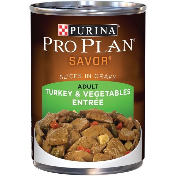 Pro Plan Dog Wet Savor Adult Turkey & Vegetables Entree Slices in Gravy Dog Food