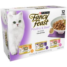 Purina Fancy Feast Sliced Poultry & Beef Collection Cat Food 12-3 oz. Cans