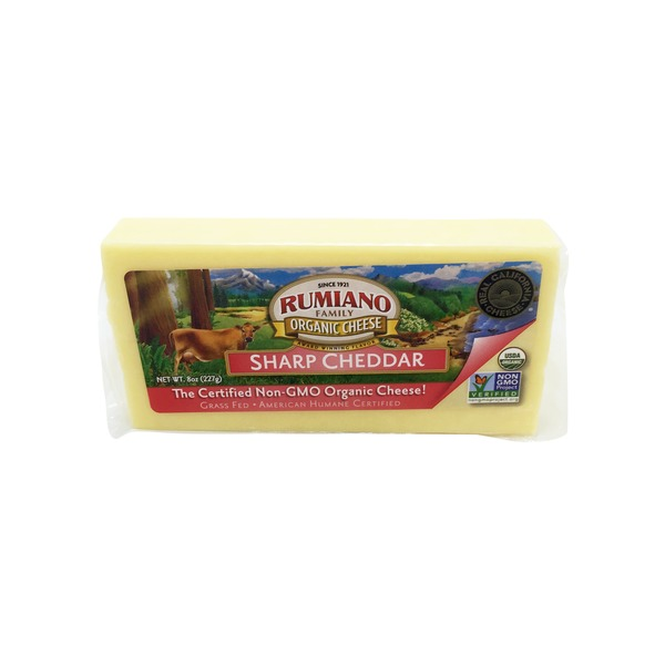 Rumiano Organic Sharp Cheddar Cheese