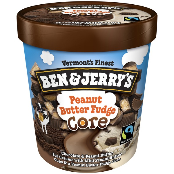 Ben & Jerry's Peanut Butter Fudge Core Ice Cream