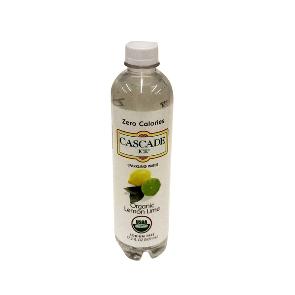 Cascade Ice Sparkling Water, Organic, Lemon Lime