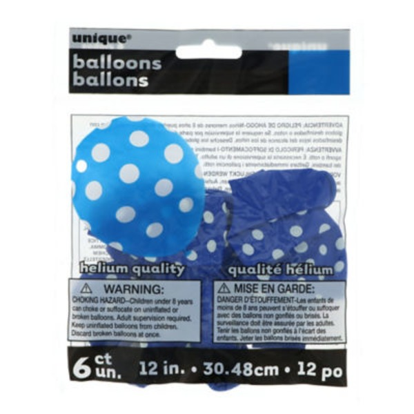 Unique Royal Blue Dots Balloons