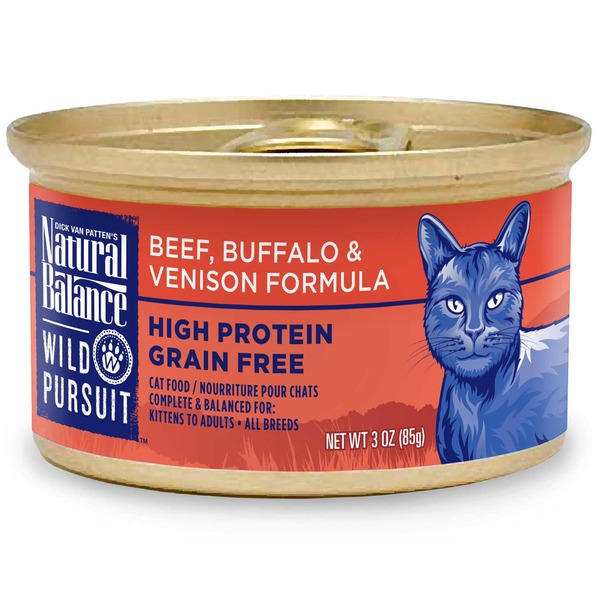 Natural Balance Wild Pursuit Beef, Buffalo & Venison Formula Grain Free Cat Food