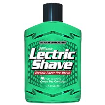 Williams Lectric Shave, Electric Pre-Shave, 7 Fluid Ounce