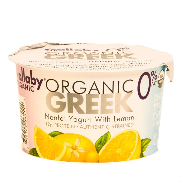 Wallaby Organic Greek Nonfat with Lemon Yogurt