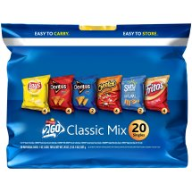 Frito-Lay 2Go Classic Mix Variety Pack, 1 Oz, 20 Ct