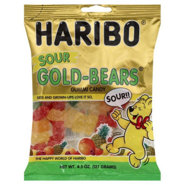 Haribo Gummi Candy Sour Gold-Bears