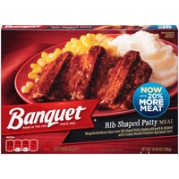 Banquet Rib Shaped Patty Meal