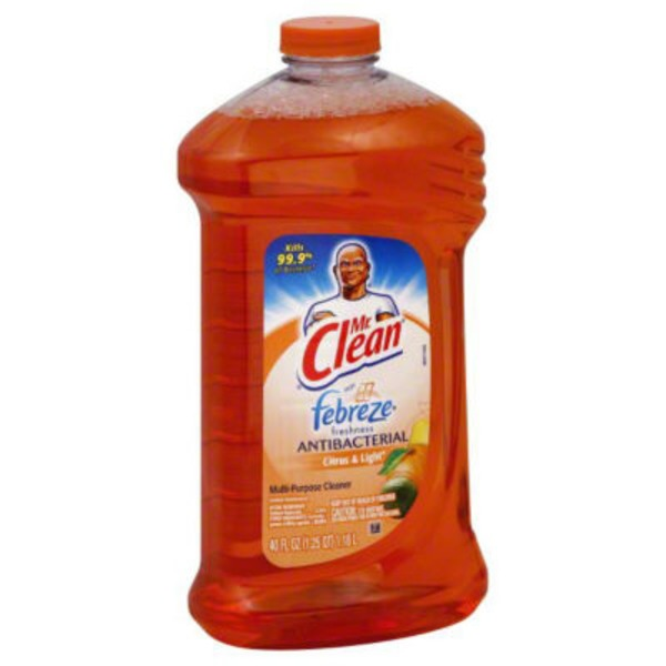 Mr. Clean Multi-Surface Cleaner Citrus & Light with Febreze freshness 40 oz.  Surface Care