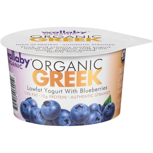 Wallaby Organic Greek Lowfat with Blueberries Yogurt