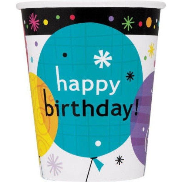 Unique 9 Oz. Breezy Happy Birthday Cup