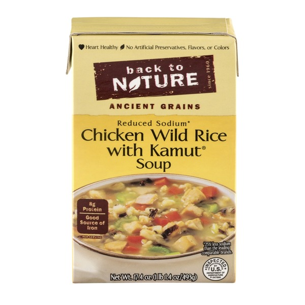 Back to Nature Chicken Wild Rice with Kamut Soup Reduced Sodium
