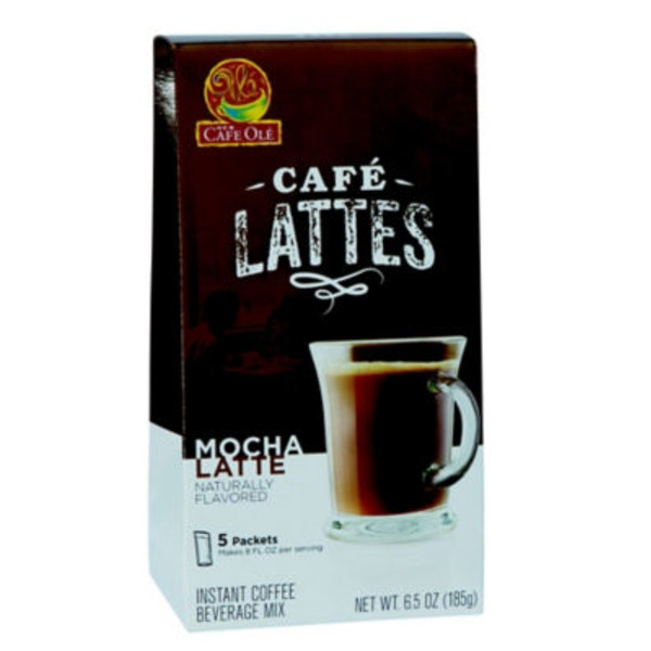 H-E-B Cafe Ole Lattes Mocha Latte Beverage Mix
