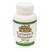 Natural Factors Turmeric & Bromelain Muscle And Joint Support Capsules