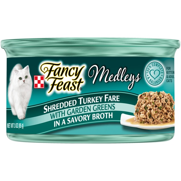 Fancy Feast Medleys Shredded Turkey Fare Cat Food