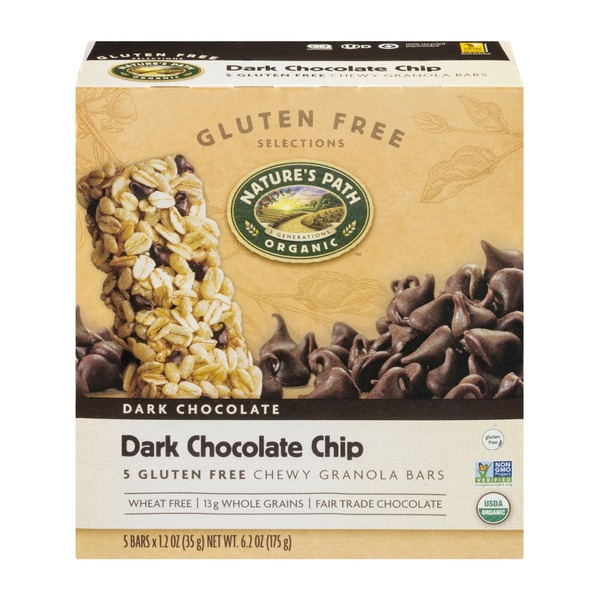 Nature's Path Chewy Granola Bars Gluten Free Dark Chocolate Chip - 5 CT