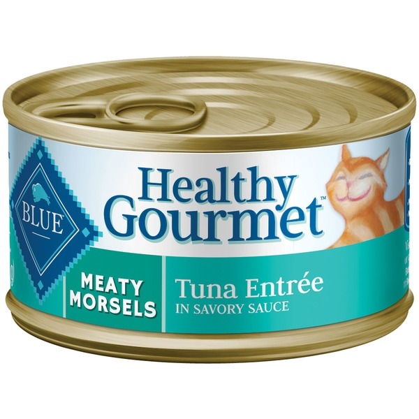 Blue Buffalo Food for Cats, Natural, Meaty Morsels, Tuna Entree in Savory Sauce