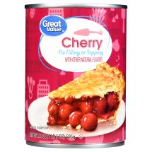 Great Value Pie Filling or Topping, Cherry, 21 oz