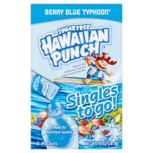 Hawaiian Punch Drink Mix, Berry Blue Typhoon, .92 Oz, 8 Packets, 1 Count
