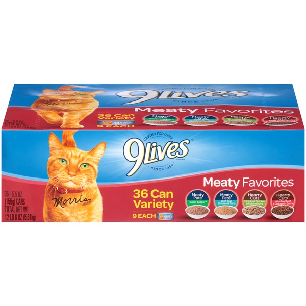 9 Lives Wet Meaty Favorites Variety Pack Cat Food