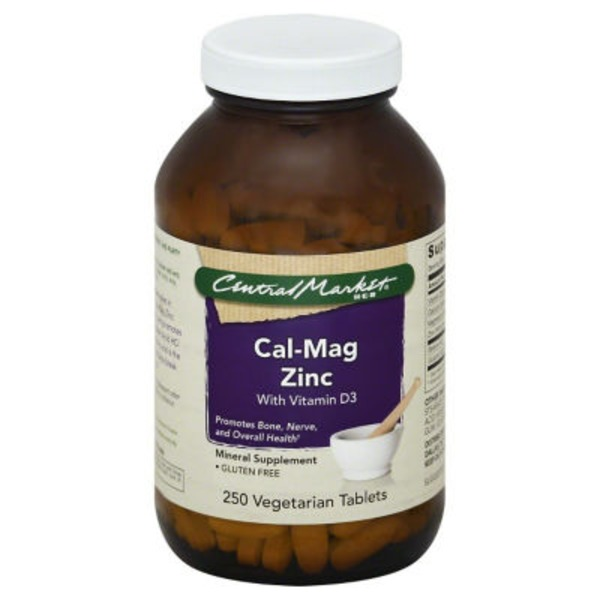 Central Market Cal Mag Zinc With Vitamin D3 Tablets