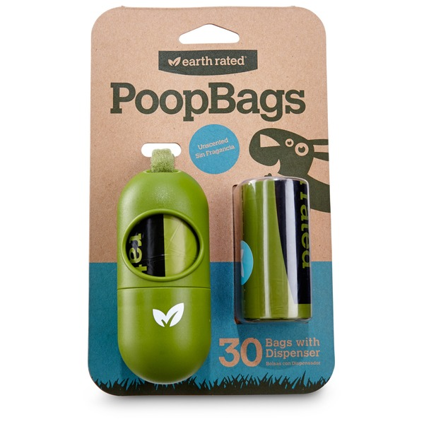 Earth Rated Unscented Dog Waste Bags With Dispenser