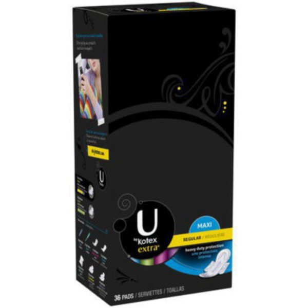 U by Kotex Extra Maxi Regular with Wings Pads