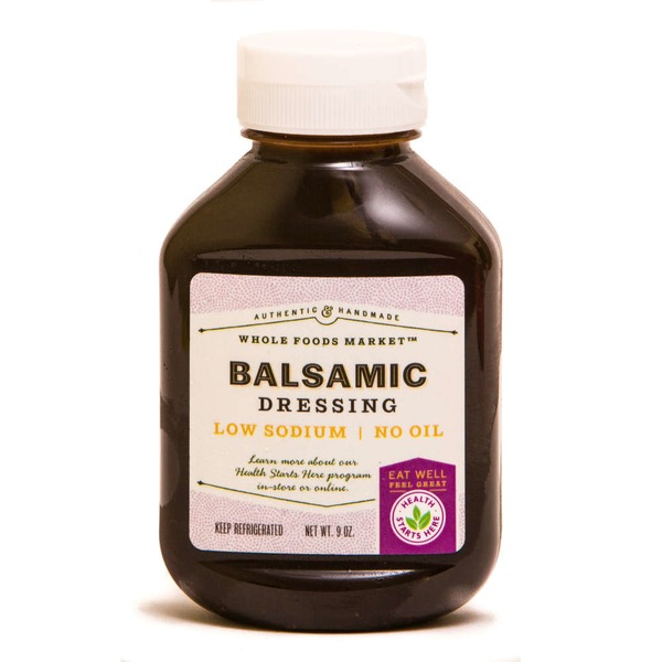 Whole Foods Market Balsamic Dressing Low Sodium No Oil