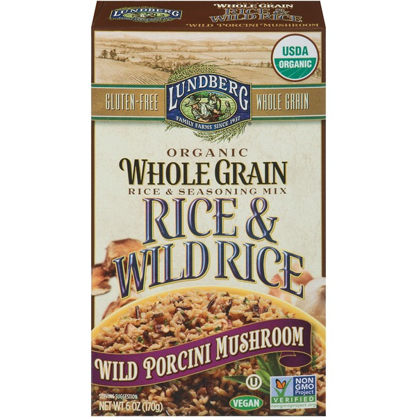 Lundberg Family Farms Organic Whole Grain Wild Porchini Mushroom Rice & Seasoning Mix
