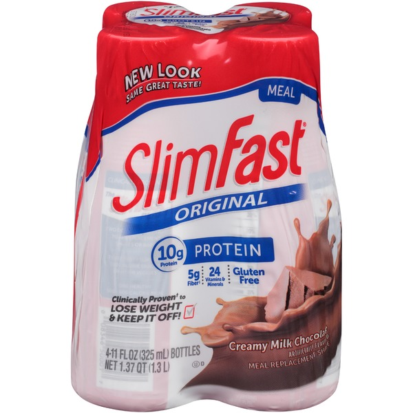 Slimfast Original Creamy Milk Chocolate Meal Replacement Shakes
