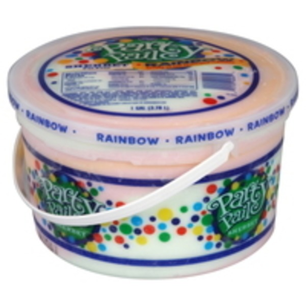 Kroger Sherbet Rainbow Party Pail