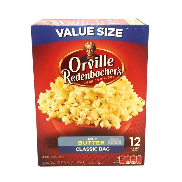 Orville Redenbacher's Popcorn, Light Butter, Classic Bag, Box