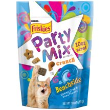 Purina Friskies Party Mix Crunch Beachside Cat Treats 10 oz. Pouch