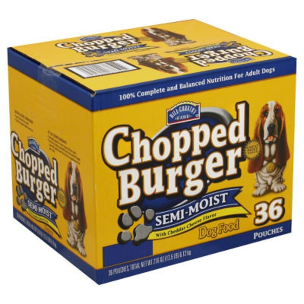 Hill Country Fare Semi Moist Chopped Burger With Cheddar Cheese Flavor Dog Food