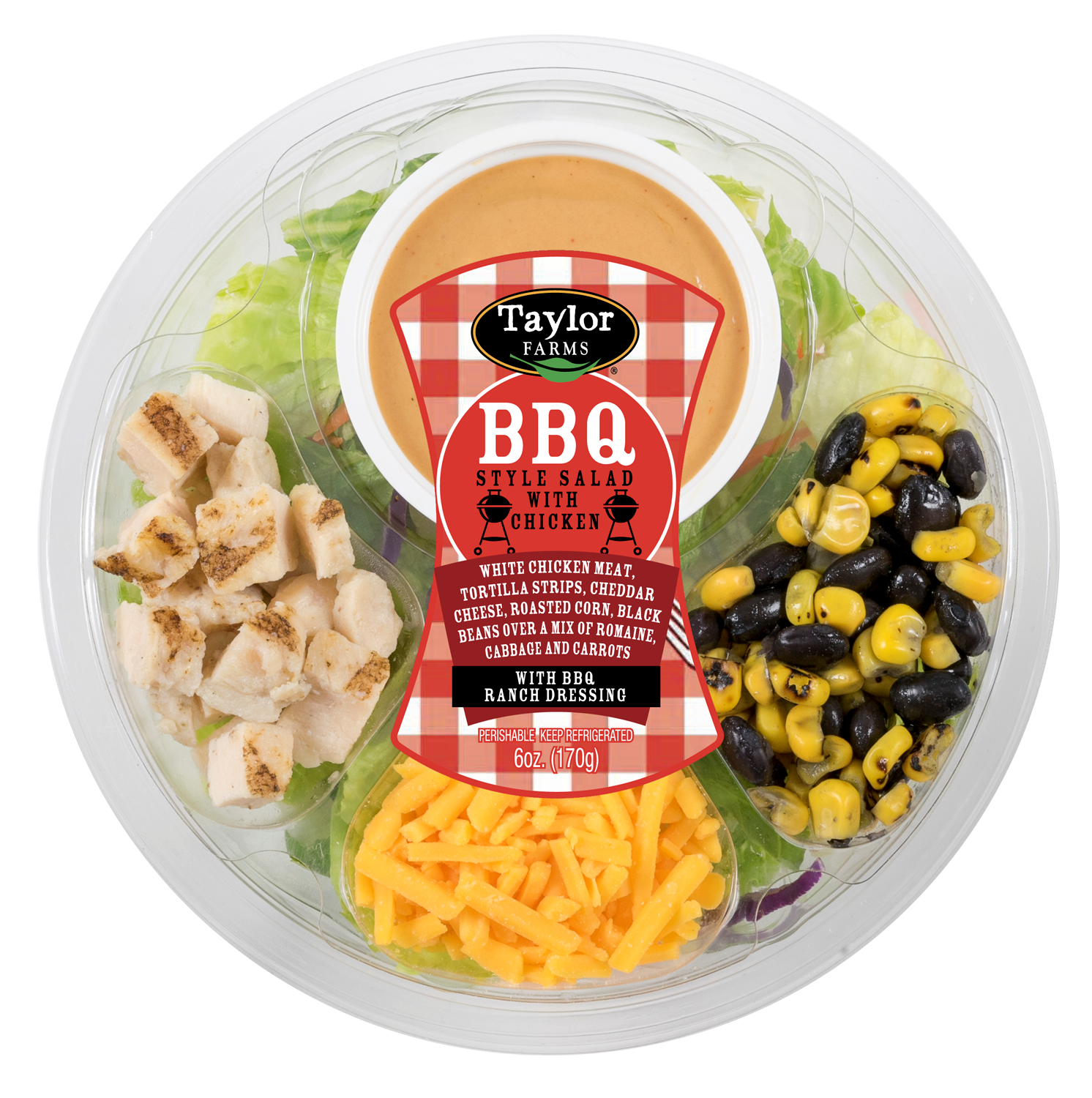 Taylor Farms BBQ Salad with Chicken Round Toss Up