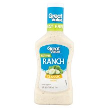 Great Value Classic Ranch Dressing, Fat Free, 16 fl oz