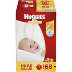 HUGGIES Little Snugglers Baby Diapers Huge Pack Size 1