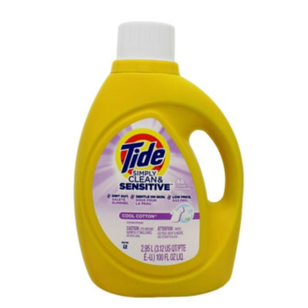 Tide Simply Clean and Sensitive Liquid Laundry Detergent 100Floz/48Ld Lq He Laundry