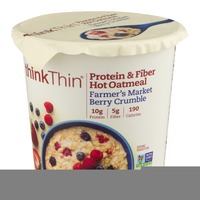 thinkThin Protein & Fiber Hot Oatmeal Farmer's Market Berry Crumble