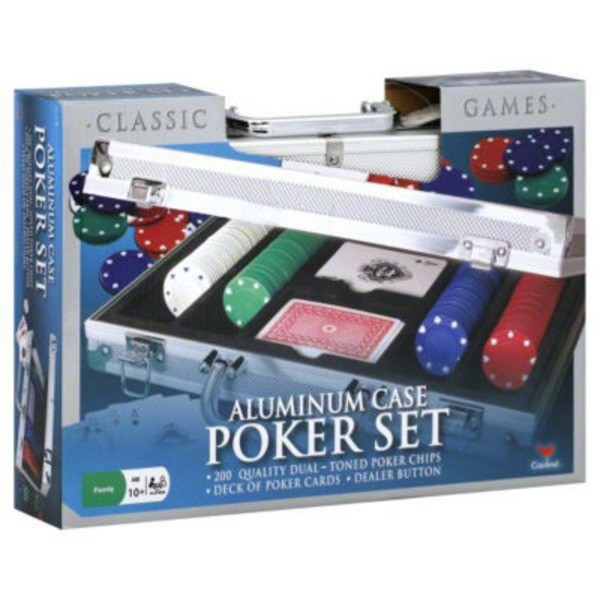Cardinal Aluminum Case Poker Set