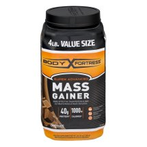 Body Fortress Super Advanced Mass Gainer Protein Supplement Chocolate Powder, 4 lb