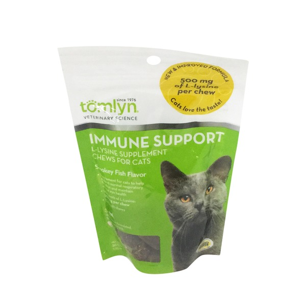 Tomlyn Smokey Fish Flavor Immune Support L-Lysine Chews For Cats